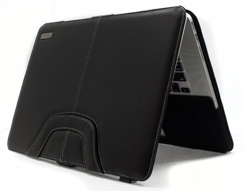 XGear Karion Faux Leather Carrying Case for Apple MacBook Pro 13 (KAR13R-BLK)