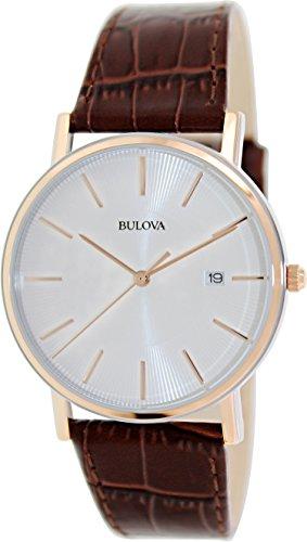 Bulova Men'S 98H51 Leather Dress Watch