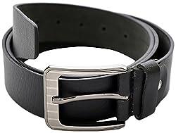 URBAN DISENO Men's Belt (Ud-belt-01_Large, Black, Large)