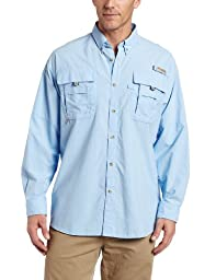 Columbia Men\'s Bahama II Long Sleeve Shirt, Sail, Large