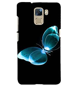 PRINTSHOPPII BUTTERFLY Back Case Cover for Huawei Honor 7