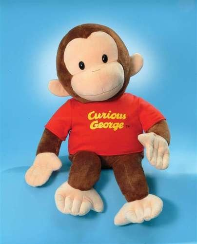 "Enesco Gund Plush Stuffed Curious George Red Shirt 12"" front-884184"