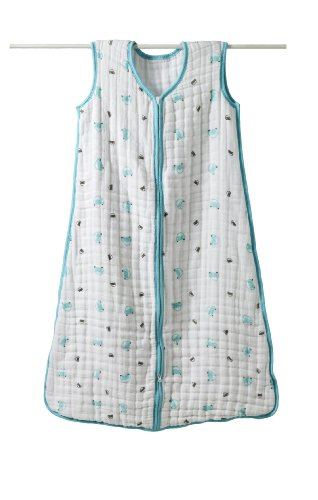 aden + anais Cozy Slumber Muslin Four Layer Sleeping Bag, Little Man, Medium