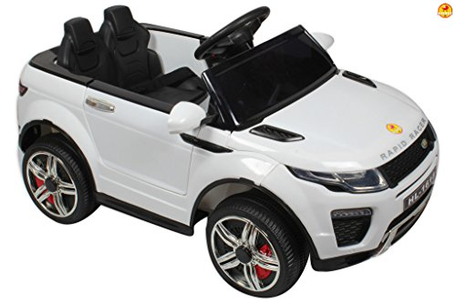 Baybee-Range-Rover-Battery-Operated-Car-with-Dual-Battery-Dual-Motor-USB-LED-and-Pull-along-Trolley-White