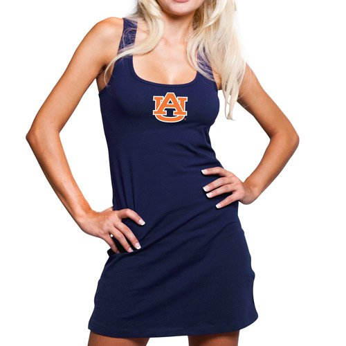 NCAA Auburn Tigers Ladies Navy Blue Team Player Racerback Tank Dress (Large) at Amazon.com