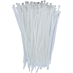 Dxg 100 Pack 6 Inch 2.5*150mm Self-locking Nylon Cable Ties Zip Ties(White)