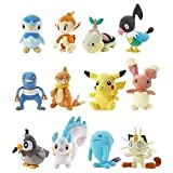 Image of Pokemon Mini Plush Diamond and Pearl Case of 12 Plushies (Piplup, Chimchar, Turtwig, Chatot, Croagunk, Buizel, Pikachu, Buneary, Starly, Pachirisu, Wobbuffet & Meowth)