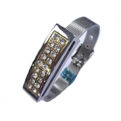 Siver Watch&White Crystals 8GB Fashion Jewelry USB 2.0 Flash Memory Pen Drive Pendant for Bracelet from pengyuan