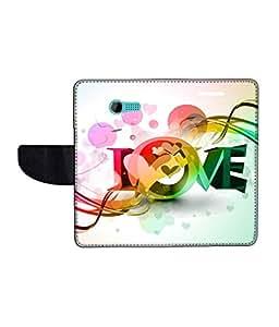 KolorEdge Printed Flip Cover For Asus Zenfone 4 Multicolor - (43KeMLogo11654Zen4)