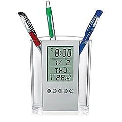 Berry President® Special Desk Multi-function LED Electronic Calendar Alarm Clock Countdown Timer Temperature Display Pen Holder