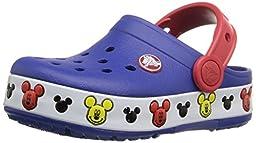 crocs Lights Mickey K Clog (Toddler/Little Kid), Cerulean Blue, 8 M US Toddler