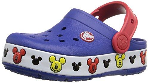crocs Mickey K Light-Up Clog (Toddler/Little Kid), Cerulean Blue, 9 M US Toddler