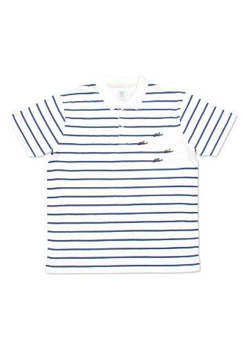 ( グラニフ ) graniph ボートレースボーダーポロシャツ ( ホワイト ) S