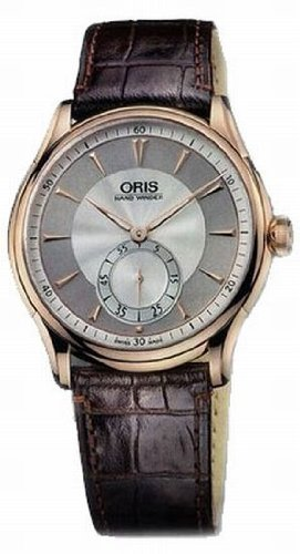 Oris Artelier 18k Rose Gold Mens Watch 396-7580-6051LS