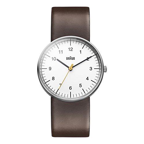 Braun Men's BN0021WHBRG Classic Analog Display Japanese Quartz Brown Watch (Braun Quartz Watch compare prices)