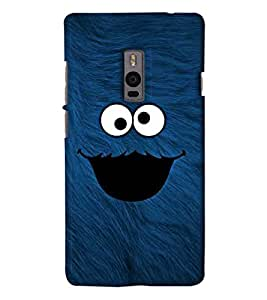 Go Yankee Funny Cartoon Character Back Case Cover For One Plus Two