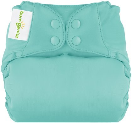 Bumgenius Elemental All In One Cloth Diaper - Snap - Mirror - One Size front-1052525