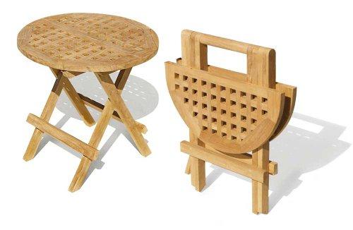 Folding Picnic Round Table - A- Grade Teak Folding Garden Coffee Table