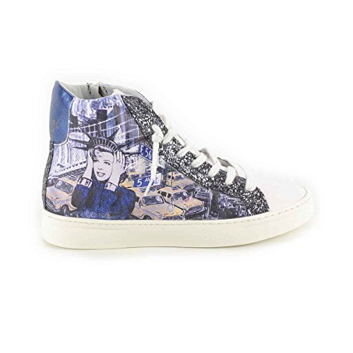 Y NOT - Scarpe donna SNEAKERS alte - Stampa New York Dive Art - 41