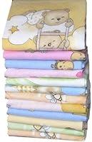 Babymajawelt® - Couches en flanelle douce (fille) 70/80-10-pack coloré et câlin