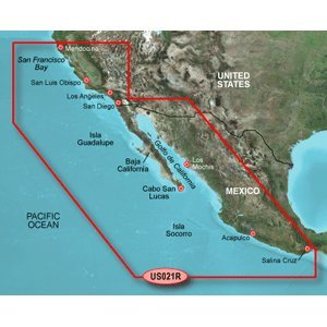Garmin BlueChart g2 California/Mexico Saltwater Map microSD Card