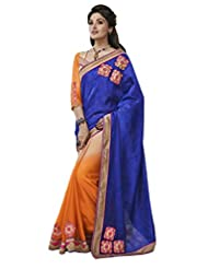 Elegant Blue Brasso Saree With Blouse