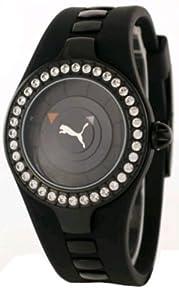 PUMA Women's PU23575.0221.936 Posh Crystal Black Rubber Watch from PUMA