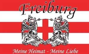 Freiburg Meine Heimat meine Liebe Fussball Fahne Flagge Grösse 1,50x0,90m - FRIP -Versand®