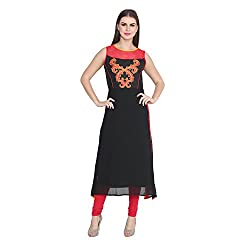 Cj15 Black And Red Kurti For Women