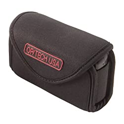 OP/TECH USA 7301254 Snappeez-Medium, Wide Body Horizontal Neoprene Pouch for Camera (3.75 x 2.5 x .75 - 1.25 Inch) (Black)