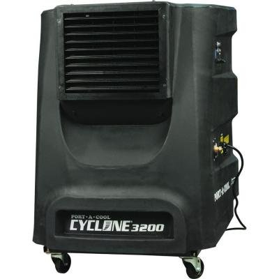 Factory Refurbished Port-A-Cool Cyclone 3200 CFM 2-Speed Portable Evaporative Cooler for 700 sq. ft.