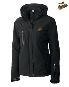 Baltimore Orioles Ladies WeatherTec Sanders Jacket Black by Cutter & Buck