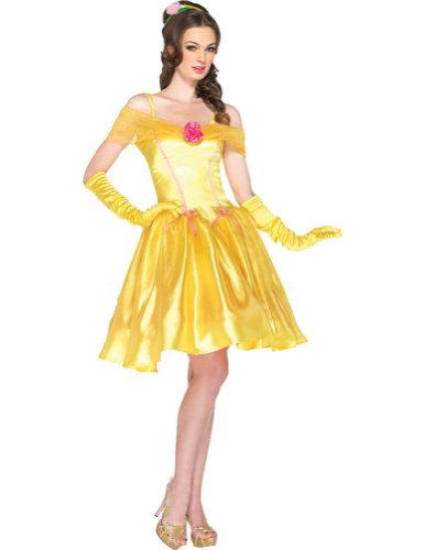 Princess Belle Adult Costume Yellow Sm Adult Womens Costume