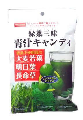 M'sone 緑菜青汁キャンディ 80g