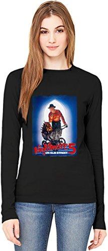 A Nightmare on Elm Street T-Shirt da Donna a Maniche Lunghe Long-Sleeve T-shirt For Women| 100% Premium Cotton Ultimate Comfort XX-Large