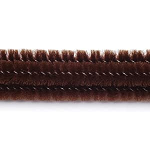 Chenille Stems-Pipe Cleaners-Brown-6mm
