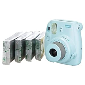 Fujifilm Instax Mini 8 Instant Camera Gift Bundle with 40 Shots - Blue (discontinued by manufacturer)
