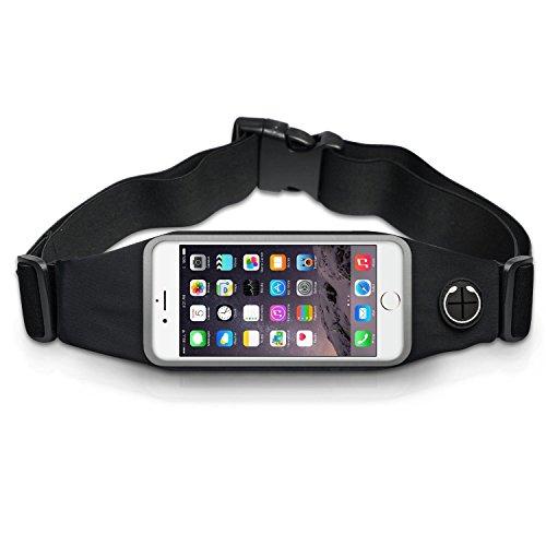 Sport-Hfttasche-Elastische-Lauftasche-Laufgrtel-Outdoor-Bauchtasche-fr-iPhone-SE-5S-5-6-6S-6-Plus7-Samsung-Galaxy-Running-BeltGrteltasche-fr-Smartphone-Handy-im-Schwarz-Jogging-Sport-Grtel-tasche-mit-
