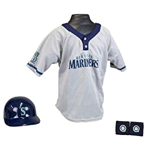 Seattle Mariners MLB Helmet and Jersey Set by Franklin