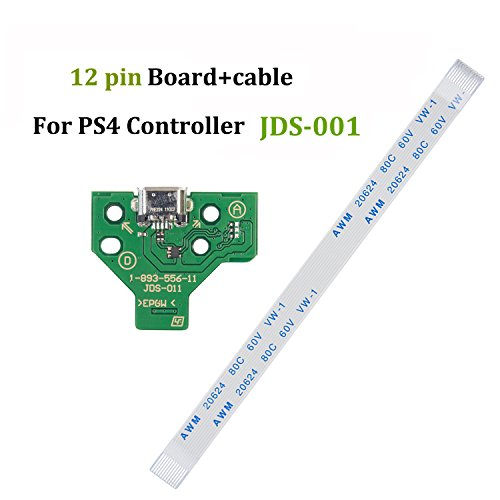 Highfine USB Charging Port Socket Board JDS-011 for SONY PS4 Controller + 12 pin cable