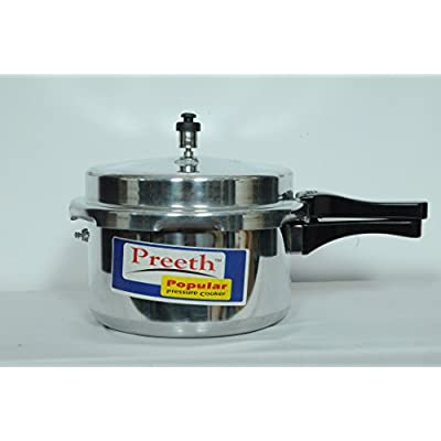 Preeth D-LITE Induction Base Outer lid Aluminium Pressure Cooker , Silver (3 Liter)