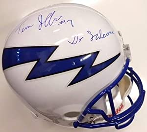 Tim Jefferson Air Force Signed Full Size Helmet Coa by Sports+Memorabilia