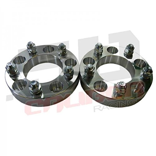 One Pair (2) Wheel Spacers 5 x 5 (5 x 127mm) - 1.0 inch thick - Wrangler, Rubicon, Commander, Cherokee, Chevy and GMC 1/2 Ton 2wd Trucks, Astro and G20 Vans [5284-A15] (Chevy 5x5 Rims compare prices)