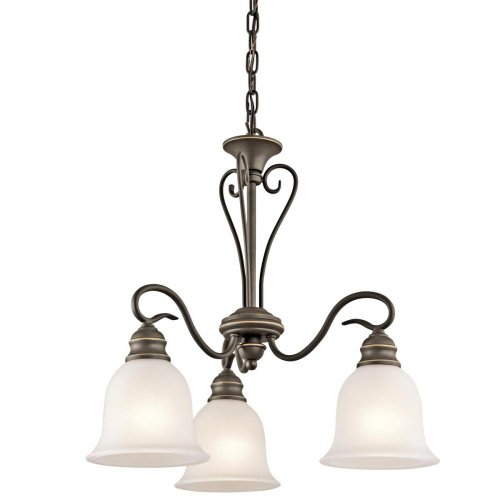 Kichler Lighting 42905Oz Tanglewood 3-Light Chandelier, Old Bronze Finish With Satin Etched Glass front-1021859