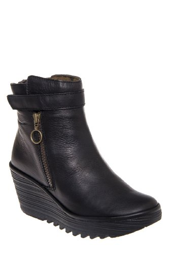 Fly London Yava Mid Wedge Bootie
