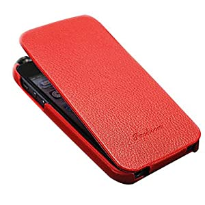 Luxury Genuine Leather Flip Full Body Case for iPhone 5/5S/5G(Assorted color) ( Color : Black )