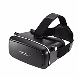 BlitzWolf VR Headset 3D Viewer Glasses Virtual Reality Box Movies Games Helmet Google Cardboard Upgraded Version for IOS iPhone SE 6 6s plus, Android Samsung Galaxy S5 S6 S7 Edge Note 4 5