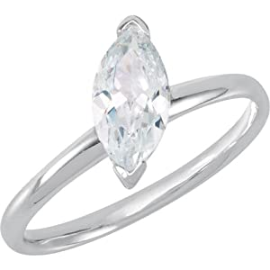 Sterling Silver Stackable CZ Ring: Size 9
