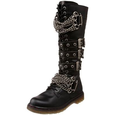 Pleaser Men's Disorder-402 Boot,Black Polyurethane,4 M US
