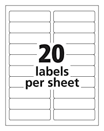 Box of 2000 Shipping / Mailing Labels For Laser Printers Same Size as Avery© 5161, 4\